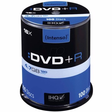 Picture of Intenso DVD+R 4,7GB 100  Cake Box