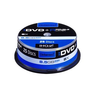 Εικόνα της Intenso DVD+R Double Layer 25  Cake Box 8.5 GB