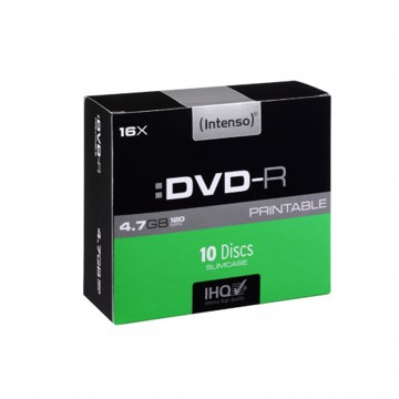 Picture of Intenso DVD-R 4,7 GB 10 Slim Case Printable