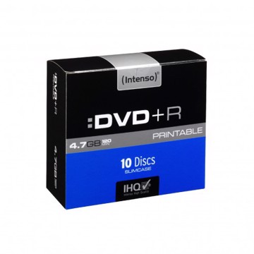 Picture of Intenso DVD+R 4,7GB 10 Slim Case Printable