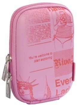 Picture of RivaCase 7023 (PU) DAVOS Digital Case pink (newspaper) Θήκη φωτογραφικής μηχανής