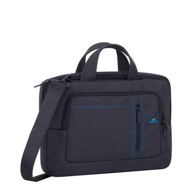 Εικόνα της RivaCase 7520 Alpendorf black Canvas Laptop bag 13.3-14'' Τσάντα μεταφοράς Laptop
