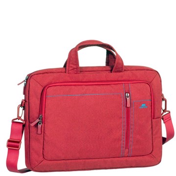 "Εικόνα της RivaCase 7530 Alpendorf red Laptop Canvas shoulder bag 15.6"" Τσάντα μεταφοράς Laptop"