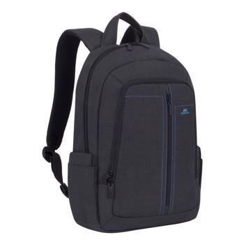 """Εικόνα της RivaCase 7560 Alpendorf Laptop Canvas Backpack 15.6"""" black Τσάντα μεταφοράς Laptop"""