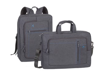 "Εικόνα της RivaCase 7590 Alpendorf grey Laptop transformer bag 16"" Τσάντα μεταφοράς Laptop"