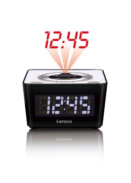 Picture of LENCO CLOCK RADIO CR-016 WHITE Ράδιοξυπνητήρι