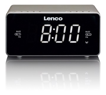 Picture of LENCO CLOCK RADIO CR-530 TAUPE Ράδιοξυπνητήρι