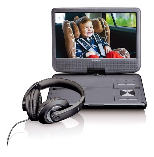 "Picture of LENCO PORTABLE DVD 10"" DVP-1010 BLACK Συσκευή αναπαραγωγής DVD"