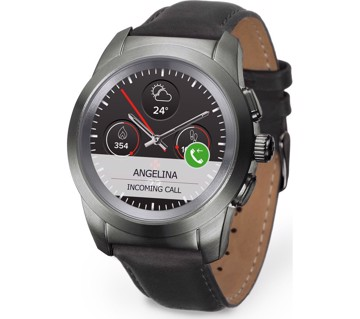 Εικόνα της MYKRONOZ ZETIME PREMIUM LINE BRUSHED BLACK/BLACK FLAT LEATHER Smartwatch