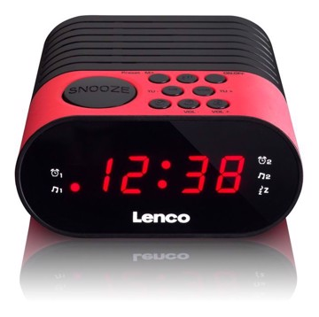 Picture of LENCO CLOCK RADIO CR-07 PINK Ράδιοξυπνητήρι