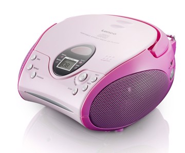 Picture of LENCO BOOMBOX SCD-24 PINK Φορητό ράδιo/CD