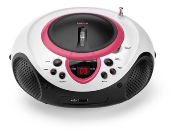 Picture of LENCO BOOMBOX SCD 38 PINK Φορητό ράδιo/CD