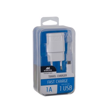 Picture of RIVAPOWER VA 4111 WD1 Wall Charger AC 1USB x 1A +m
