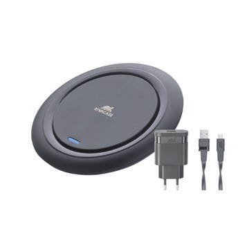 Picture of RIVACASE VA4914 BD1 wireless fast charger black 10W with wall charger