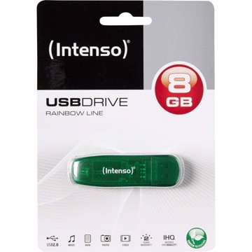 Picture of Intenso USB Drive 2.0  RAINBOW LINE  8GB  Πράσινο