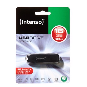 Picture of Intenso USB Drive 3.0 SPEED LINE 16GB Μαύρο