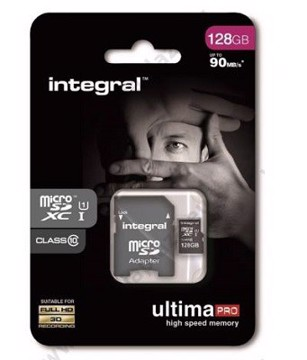 Εικόνα της INTEGRAL ULTIMAPRO MICROSDHC/XC 90MB CLASS 10 UHS-I U1 - 128GB (with Adapter to SD Card) Κάρτα μνήμης