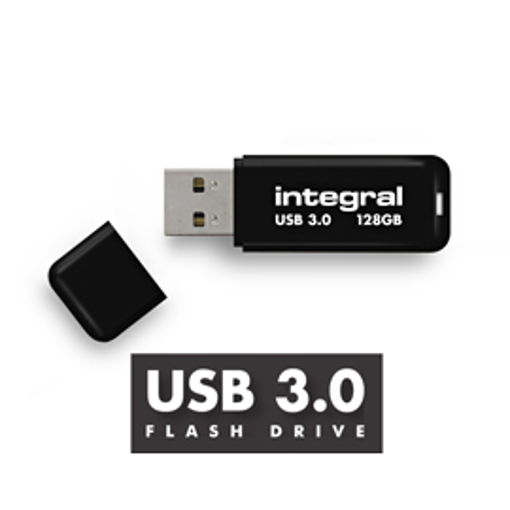 Picture of INTEGRAL USB Flash Drive Black 3.0 - 128GB Μαύρο