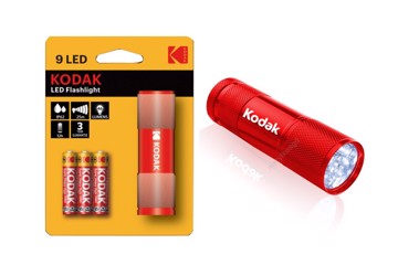 Picture of KODAK FLASHLIGHT RED 9-LED + 3xAAA EHD Φακός