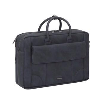 """Εικόνα της RivaCase Vagar 8942 black full size Laptop bag 16"""" Τσάντα μεταφοράς Laptop Μαύρη"""
