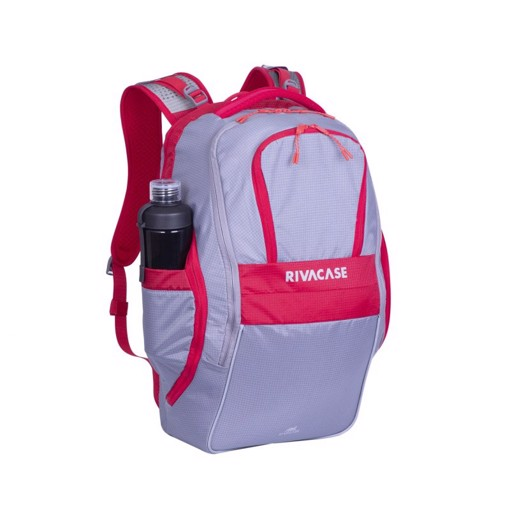 """Picture of RivaCase 5225 Mercantour grey/red 20L Laptop backpack 15.6"""" Σακίδιο πλάτης Γκρι-Κόκκινο"""