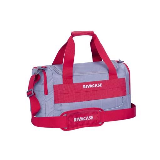 Φωτογραφία από RivaCase 5235 Mercantour grey/red 30L Duffle bag Σακβουαγιάζ Γκρι-Κόκκινο