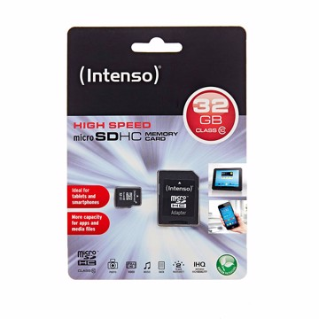 Picture of Intenso Micro SD Card 32GB SD Class 10 with SD adapter