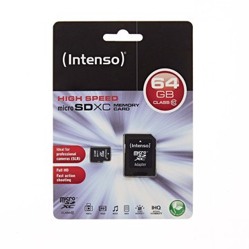 Picture of Intenso Micro SD Card 64GB SD Class 10