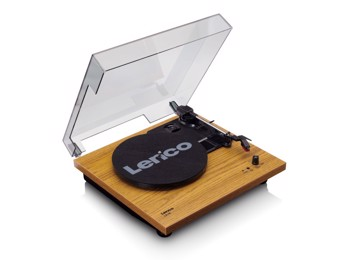 Picture of Lenco LS-10Wood - Turntable with built-in speakers - Black