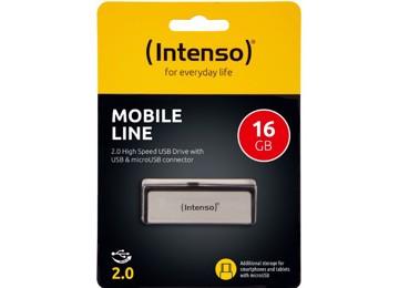Εικόνα της Intenso® USB Drive 2.0 - MOBILE LINE - 16GB + Micro USB port